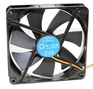 Вентилятор 5bites F14025S-3 140x140x25 / SLEEVE / 900RPM / 20DBA / 3P